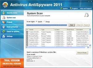 AntiVirusAntiSpyware2011 GUI