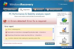 WindowsRecover.FakeSysDef GUI
