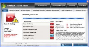 Windows Antivirus System GUI