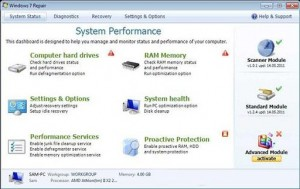 Windows 7 Repair GUI