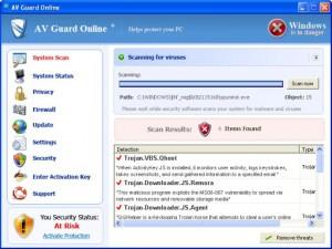 AV Guard Online (FakeScanti) GUI