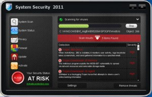 System Security 2011 (FakeScanti) GUI