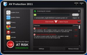 AV Protection 2011 (FakeScanti) GUI