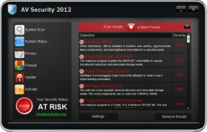 AV Security 2012 (FakeScanti) GUI