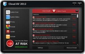Cloud AV 2012 (FakeScanti) GUI