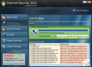 Internet Security 2012 GUI