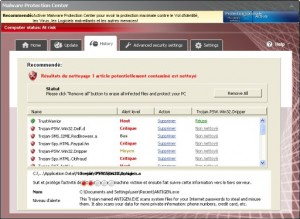Malware Protection Center GUI