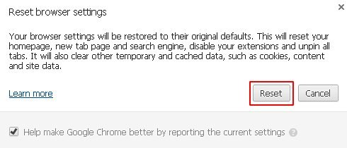 Reset Chrome 3