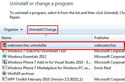 Uninstall Bing.vc related software