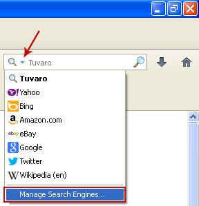 Firefox Manage Search Engines 2