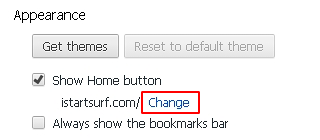 Show Home button Chrome