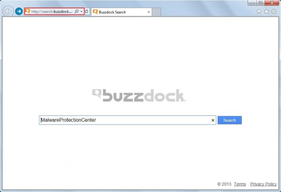 Browser stuck with search.buzzdock.com
