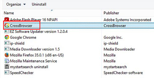 Uninstall CrossBrowser