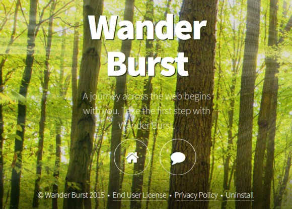 Wander Burst has a simplistic website with no download feature