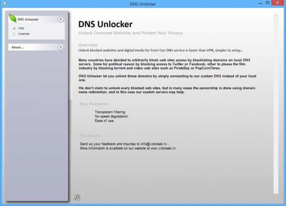 DNS Unlocker product isn't in fact all about benefits